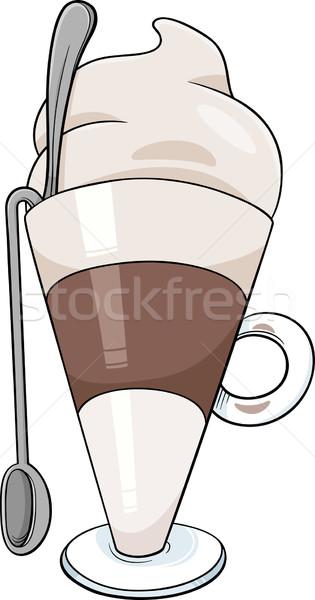 latte macchiato cartoon illustration Stock photo © izakowski