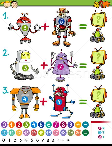 cartoon mathematical education game Stock photo © izakowski