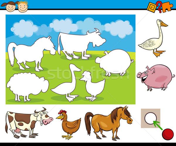 kindergarten task for preschoolers Stock photo © izakowski