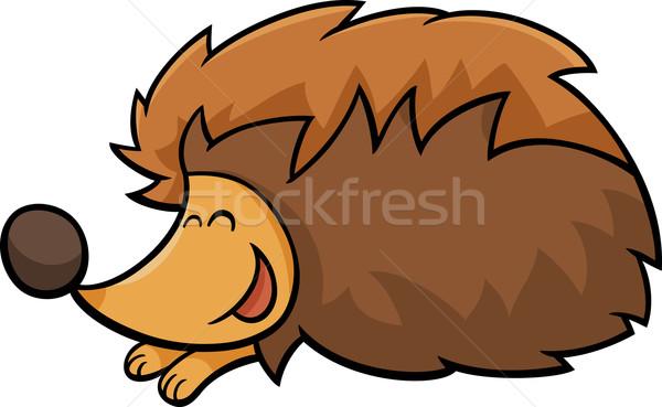 Jeż zwierząt cartoon ilustracja cute charakter Zdjęcia stock © izakowski