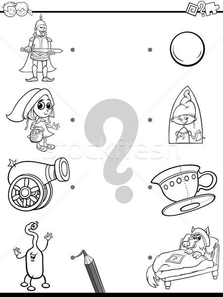 match pictures coloring page Stock photo © izakowski