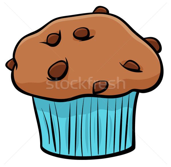 Muffin csokoládé rajz tárgy illusztráció édes Stock fotó © izakowski