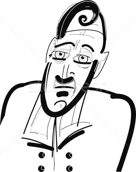 Különc férfi rajz rajz illusztráció terv Stock fotó © izakowski