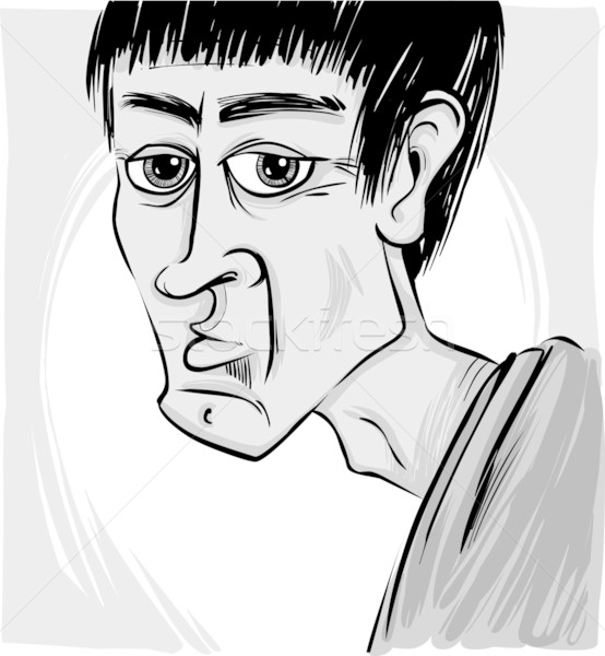 Caricature of man Stock photo © izakowski