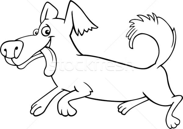 Fut kicsi kutya rajz illusztráció vicces Stock fotó © izakowski
