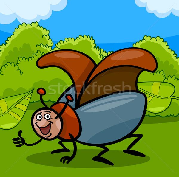 Besouro inseto desenho animado ilustração engraçado besouro Foto stock © izakowski