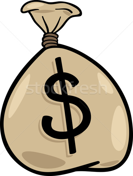 sack of dollars clip art cartoon illustration Stock photo © izakowski