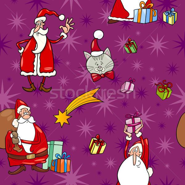 christmas cartoon seamless pattern tile Stock photo © izakowski