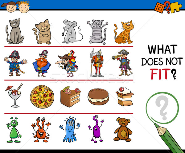 what does not fit game cartoon Stock photo © izakowski