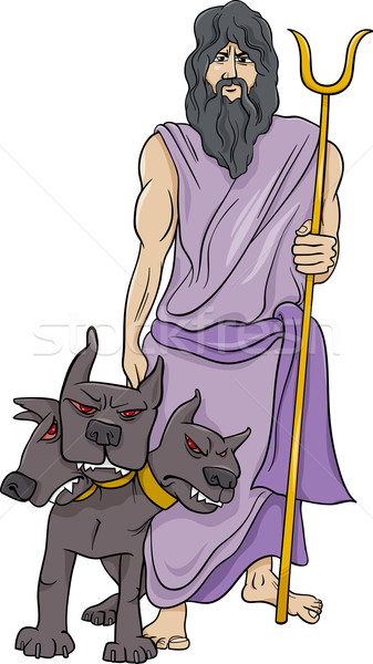 Grec dieu cartoon illustration mythologique homme Photo stock © izakowski
