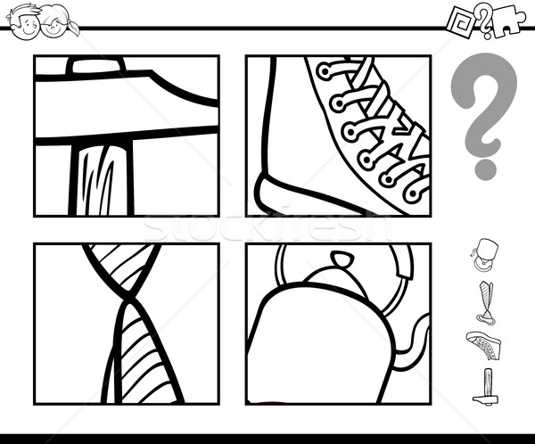 guess objects coloring book Stock photo © izakowski