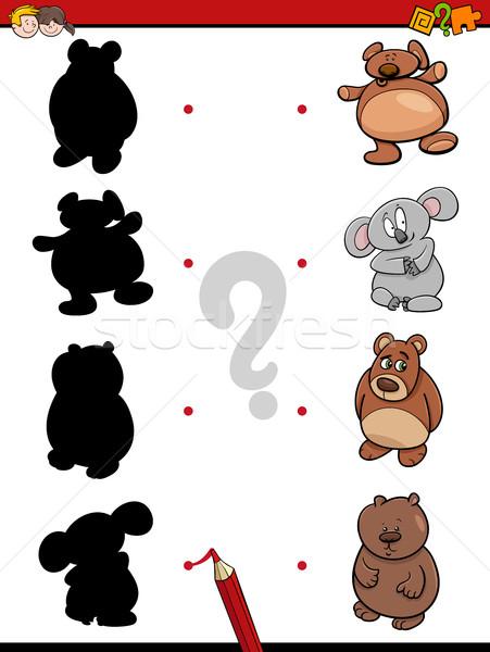 shadow game with bears Stock photo © izakowski