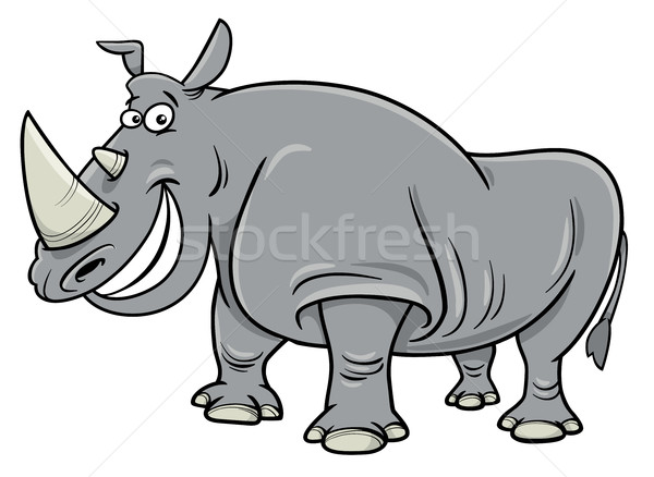 rhinoceros cartoon character Stock photo © izakowski