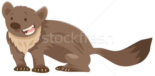 marten cartoon animal character Stock photo © izakowski
