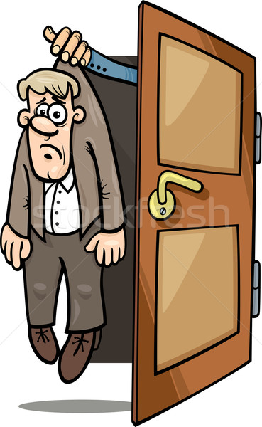 fired man cartoon illustration Stock photo © izakowski