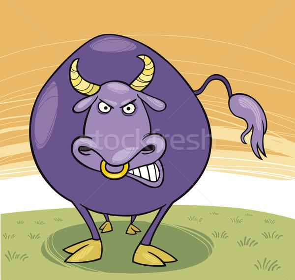 Angry bull Stock photo © izakowski