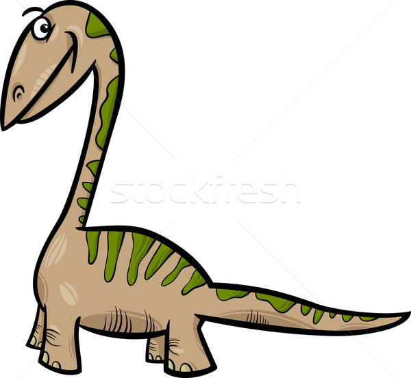 apatosaurus dinosaur cartoon illustration Stock photo © izakowski