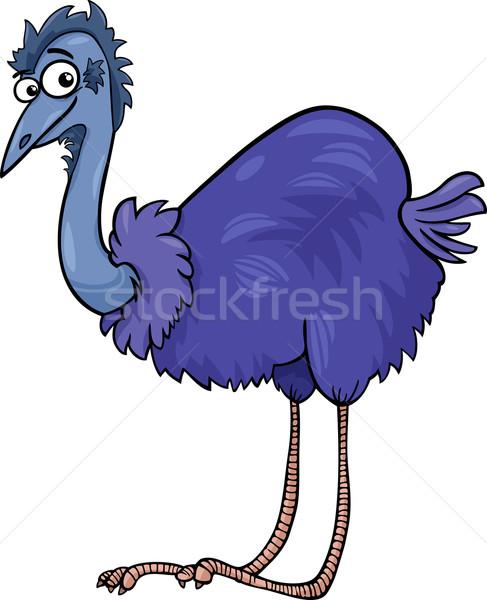 ダチョウ 鳥 漫画 実例 面白い ストックフォト © izakowski
