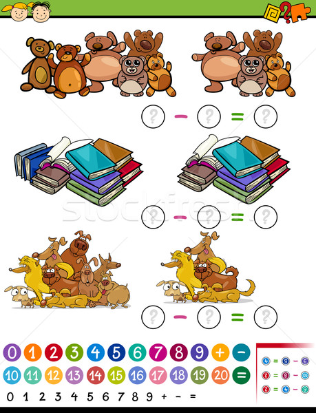 Gioco cartoon illustrazione istruzione matematico Foto d'archivio © izakowski