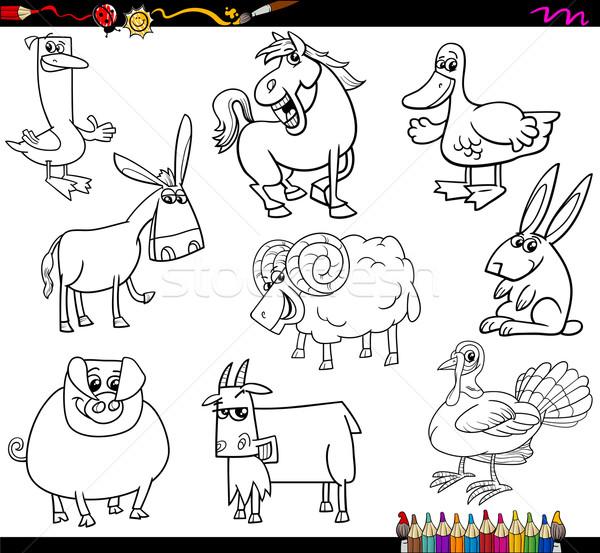 Ciftlik Hayvanlari Boyama Kitabi Karikatur Ornek