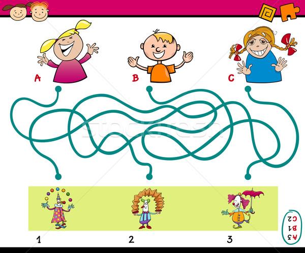 maze puzzle task for kids Stock photo © izakowski