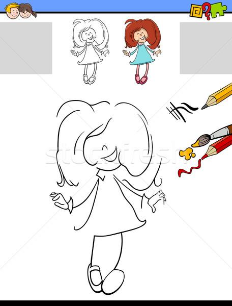 Educativo attività cartoon illustrazione disegno Foto d'archivio © izakowski