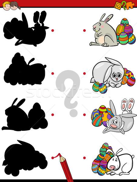 Wielkanoc cień zadanie cartoon ilustracja Zdjęcia stock © izakowski