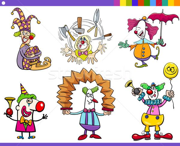 circus clown characters set Stock photo © izakowski
