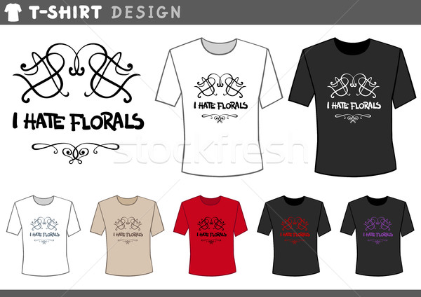 t shirt design with floral Stock photo © izakowski