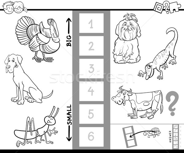 find biggest animal color book activity Stock photo © izakowski