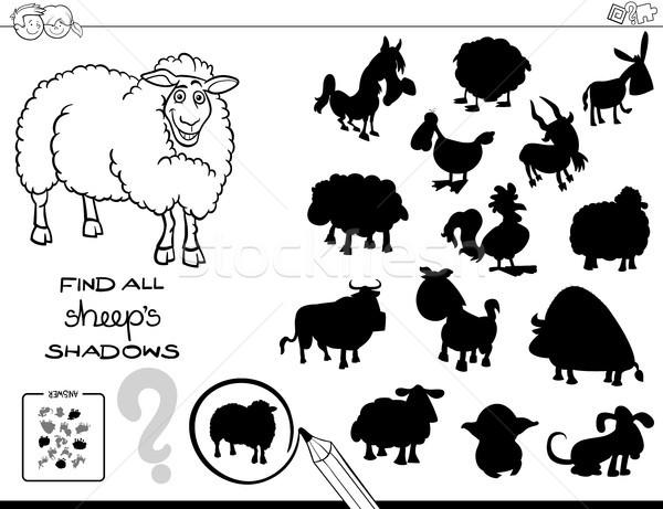 影 ゲーム 羊 色 図書 黒白 ストックフォト © izakowski