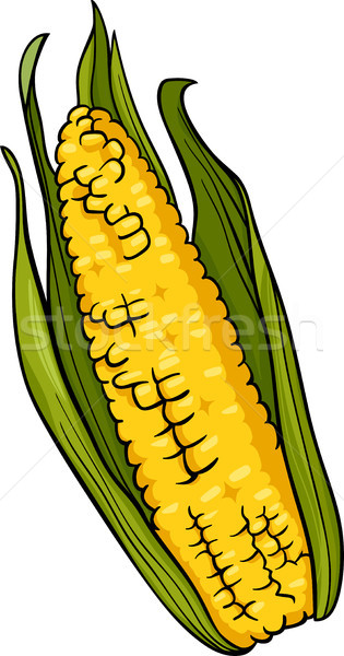 corn on the cob cartoon illustration Stock photo © izakowski