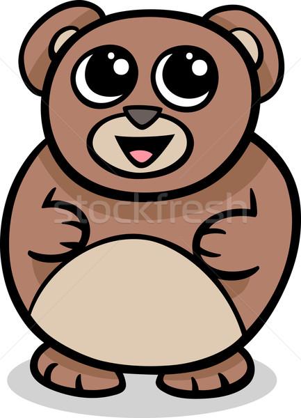 Cartoon kawaii tener ilustración estilo cute Foto stock © izakowski