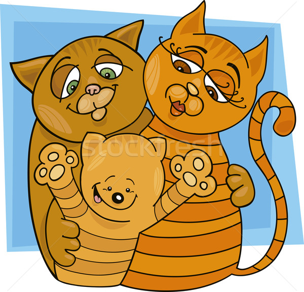 Cats family Stock photo © izakowski