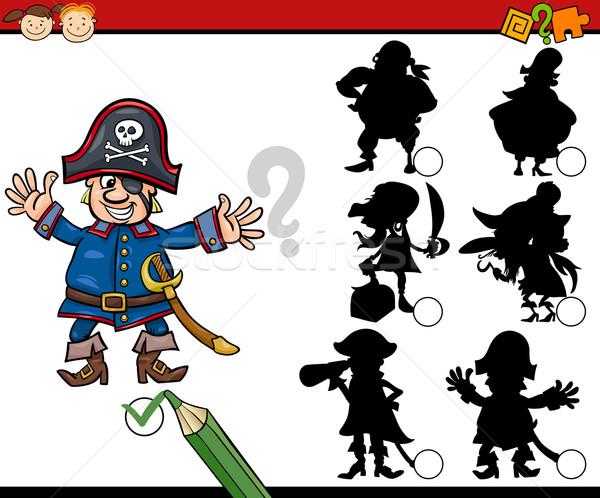 教育 影 ゲーム 漫画 実例 影 ストックフォト © izakowski