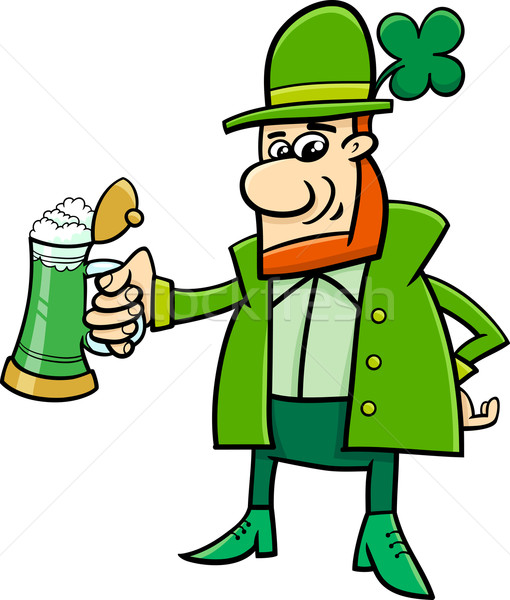 leprechaun cartoon character Stock photo © izakowski