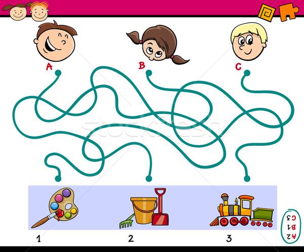 maze paths task for children Stock photo © izakowski