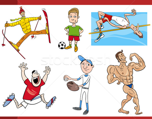 Cartoon ingesteld illustratie sport Stockfoto © izakowski