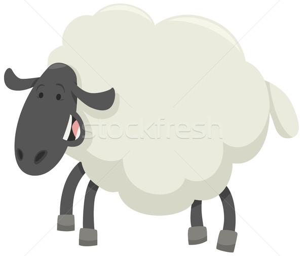 счастливым овец животного характер Cartoon иллюстрация Сток-фото © izakowski