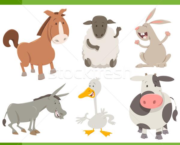 Haszonállat betűk gyűjtemény rajz illusztráció derűs Stock fotó © izakowski