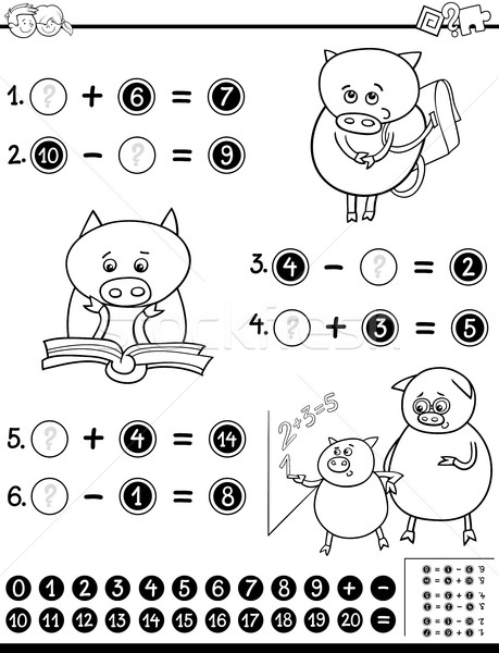 mathematical worksheet for coloring Stock photo © izakowski