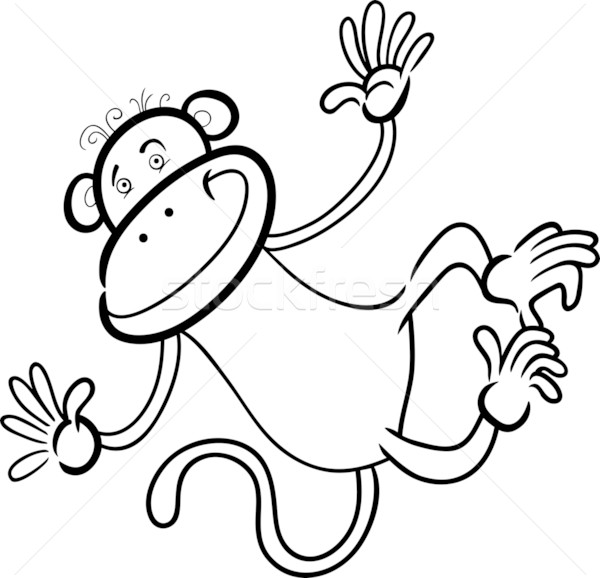 Komik Maymun Boyama Kitabı Karikatür Komik örnek