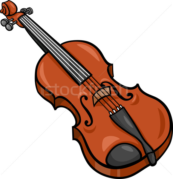 Violon cartoon illustration clipart instrument de musique musique Photo stock © izakowski