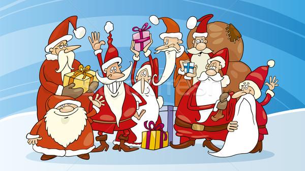 Santas group Stock photo © izakowski