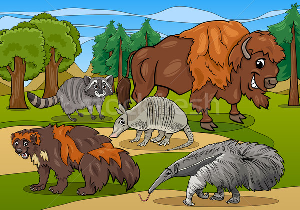 Mammifères animaux cartoon illustration illustrations drôle Photo stock © izakowski