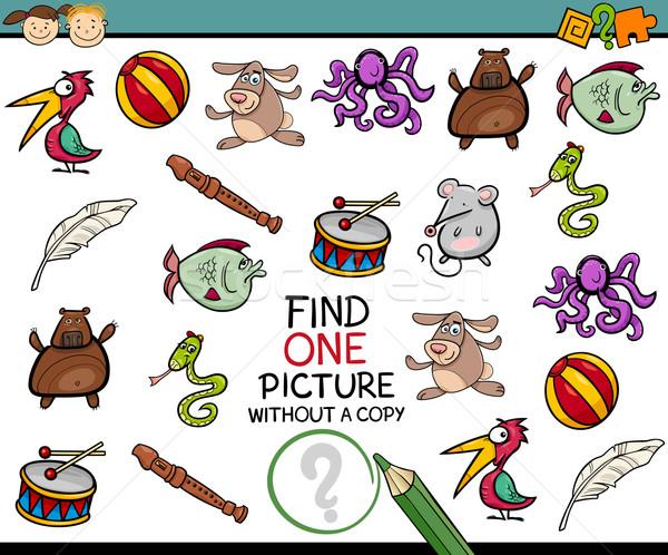 find single picture game cartoon Stock photo © izakowski