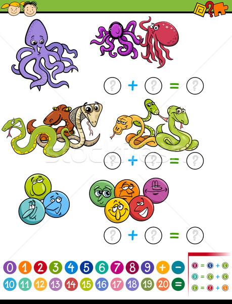 Stock photo: mathematical task for children