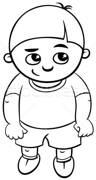 preschool boy coloring page Stock photo © izakowski