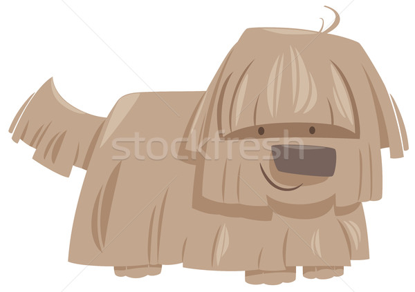 Kócos kutya állat karakter rajz illusztráció Stock fotó © izakowski