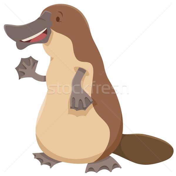 животного характер Cartoon иллюстрация Cute счастливым Сток-фото © izakowski